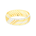 Sophisticated Two-tone Bangle