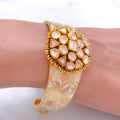 Mughal Kundan & Inlay Enamel work in Cuff Bangle