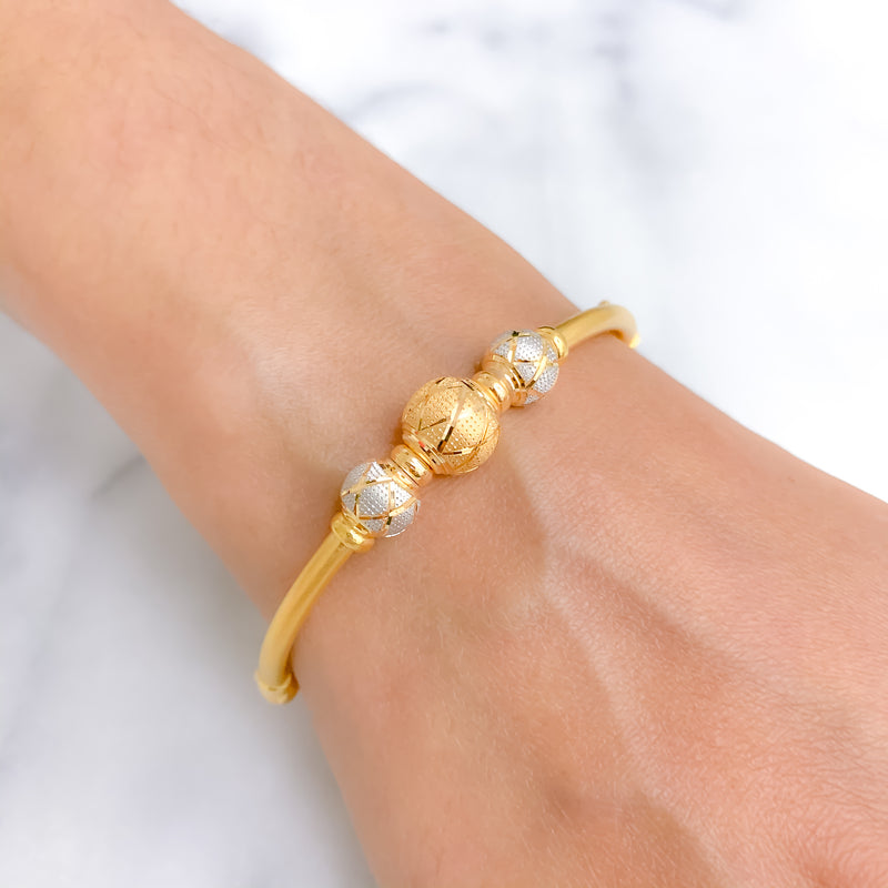 Criss Cross Two Tone Bangle Bracelet