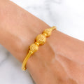 Ritzy Yellow Gold Bangle Bracelet