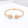 Elegant Double Orb Bangle Bracelet