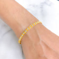 Modern Channel Set Two-tone Bracelet