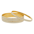FANCY WHITE GOLD BANGLES