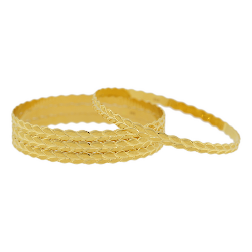 HIGH FINISH BANGLES WITH LEAF DESIGN