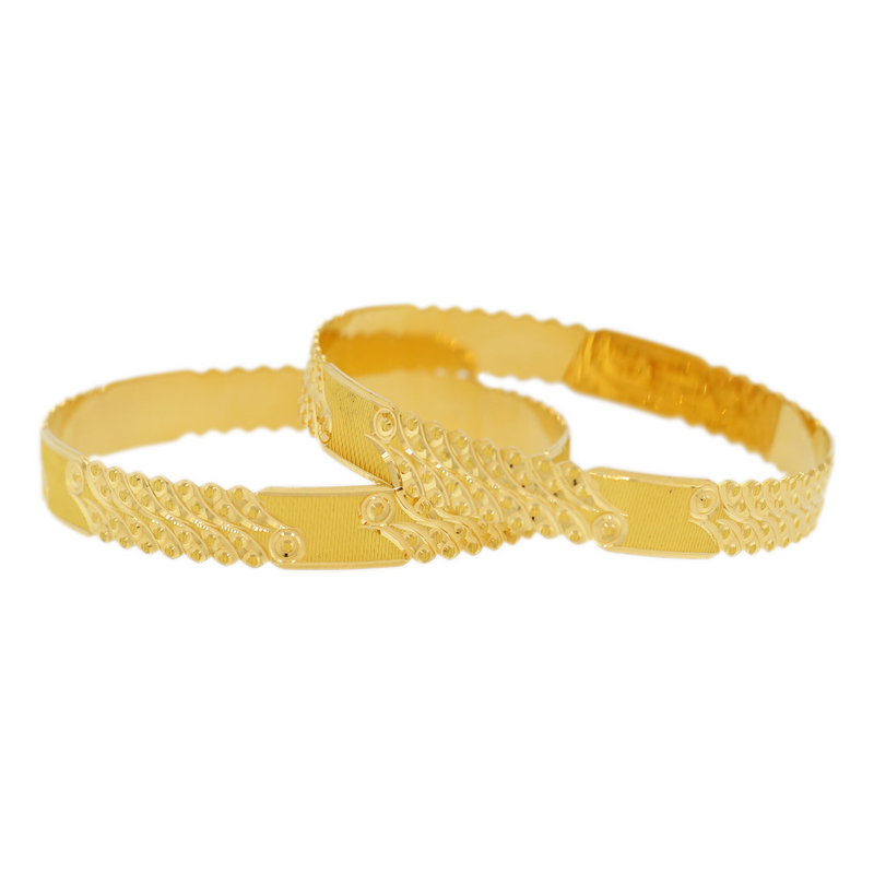 UNDERSTATED GOLD BANGLES