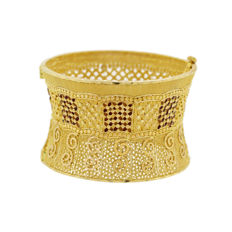 Regal Cuff With Meena Accent