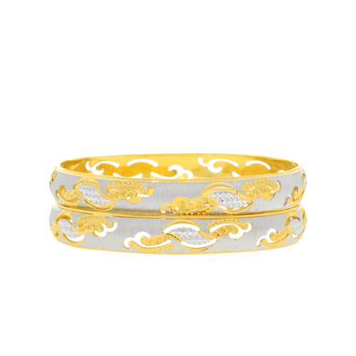 Cut Out Two-Tone Bangle