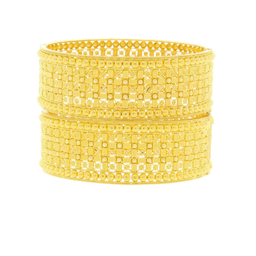 Checkered Style Wide Bangles