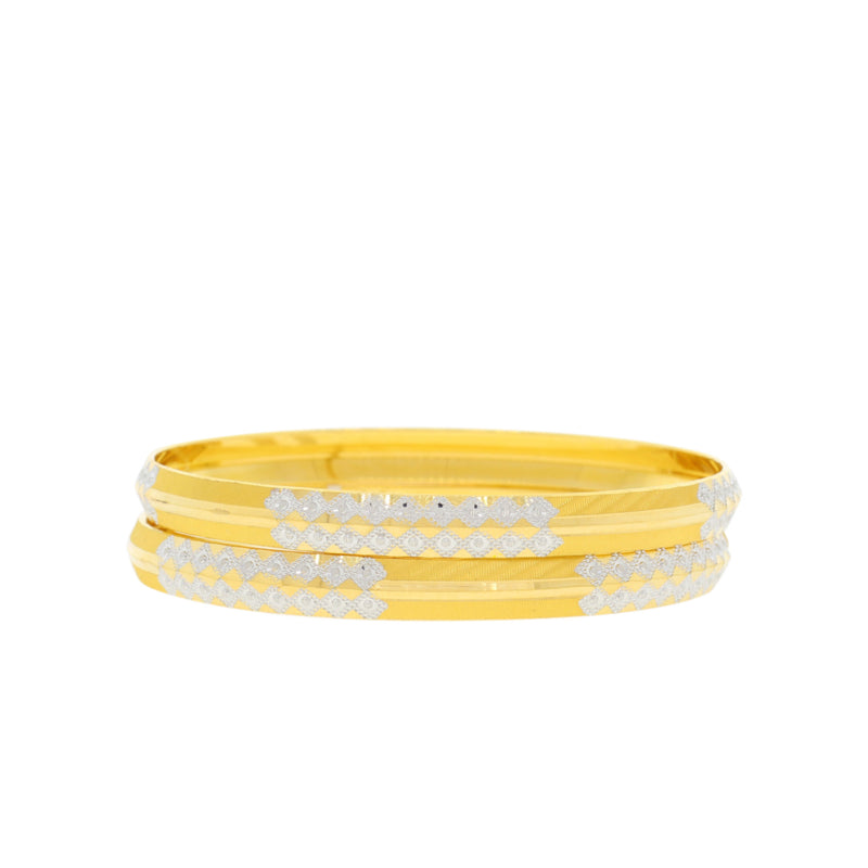 Fine Diamond-Cut Bangles