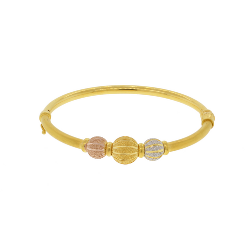 Three-Tone Bangle Bracelet