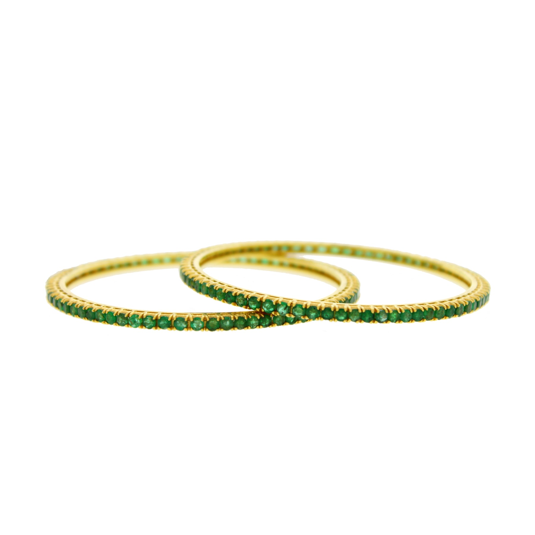 plaza emerald bangles product silver set