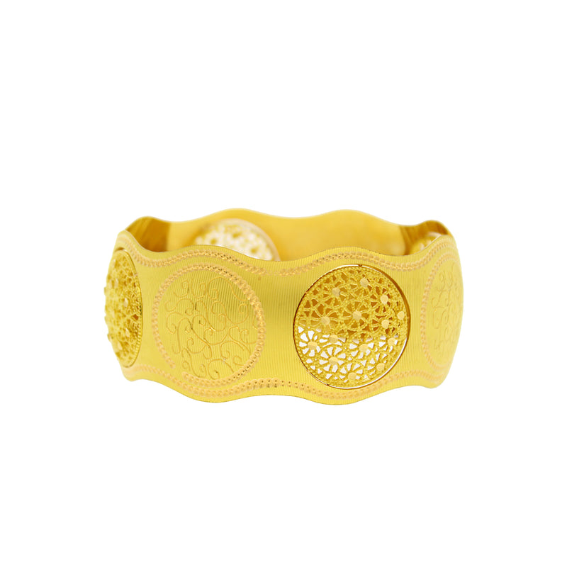 Exquisite Gold Cuff