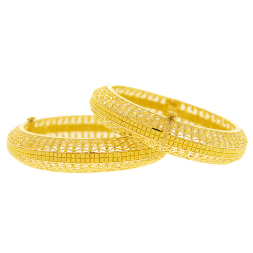 Rounded Gold Bangles