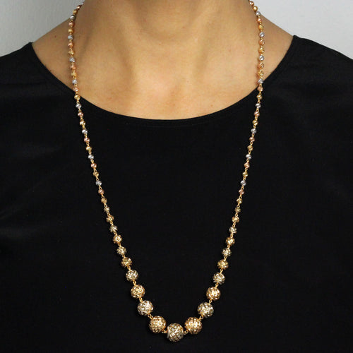 Three-tone Ball Chain
