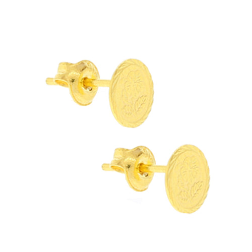 Flower Coin Earring Tops