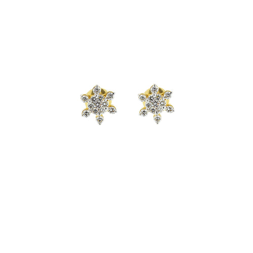 Star-shaped Diamond Earrings