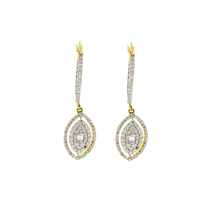 Drop-shaped Diamond Earrings
