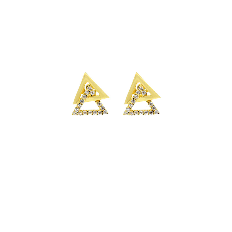 Triangle CZ Earring Tops