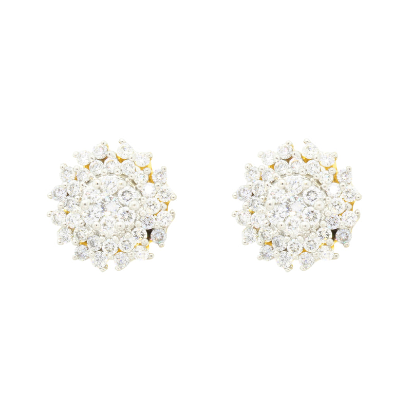 Unique Cluster Diamond Earrings