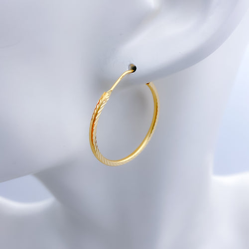 Classic Medium Plain Bali Earrings