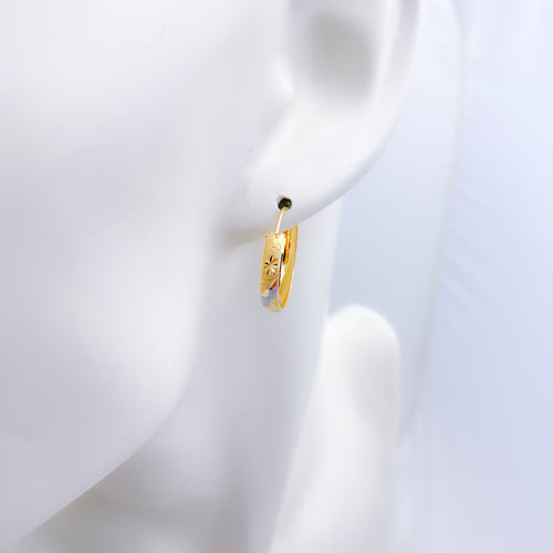 Two Tone Bali Earrings