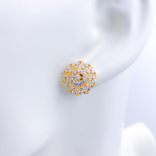 Traditional CZ tops Earrings