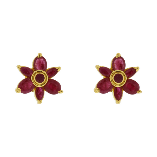 Floral Ruby Earrings