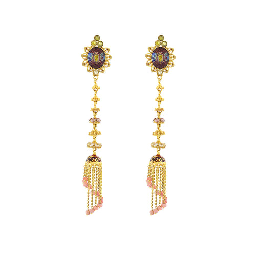 Long-hanging Jhumka Earrings