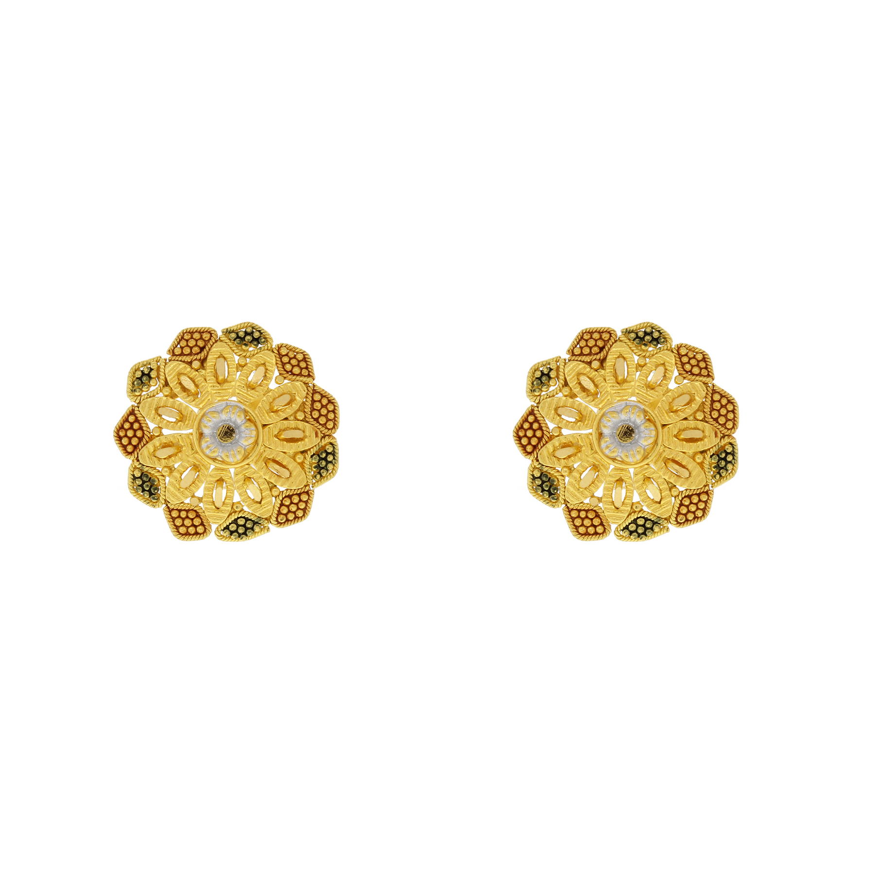 inverted buy in of arella matte gold earrings stones u colored picture multi with