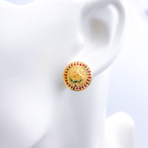 Dome Shaped Top Earrings