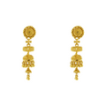 GOLD EARRINGS WITH HANGING JHUMKI