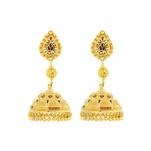 Meena Jhumka Earrings