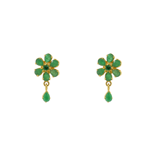 GOLD & EMERALD EARRING