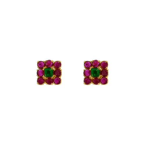 RUBY & EMERALD EARRING TOP