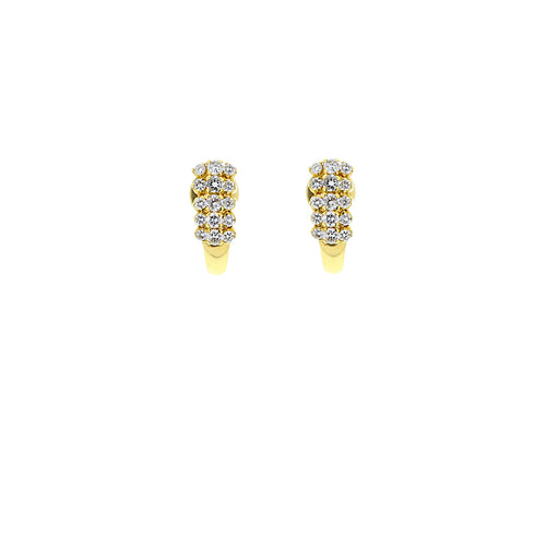 Half Moon Diamond Earrings Tops