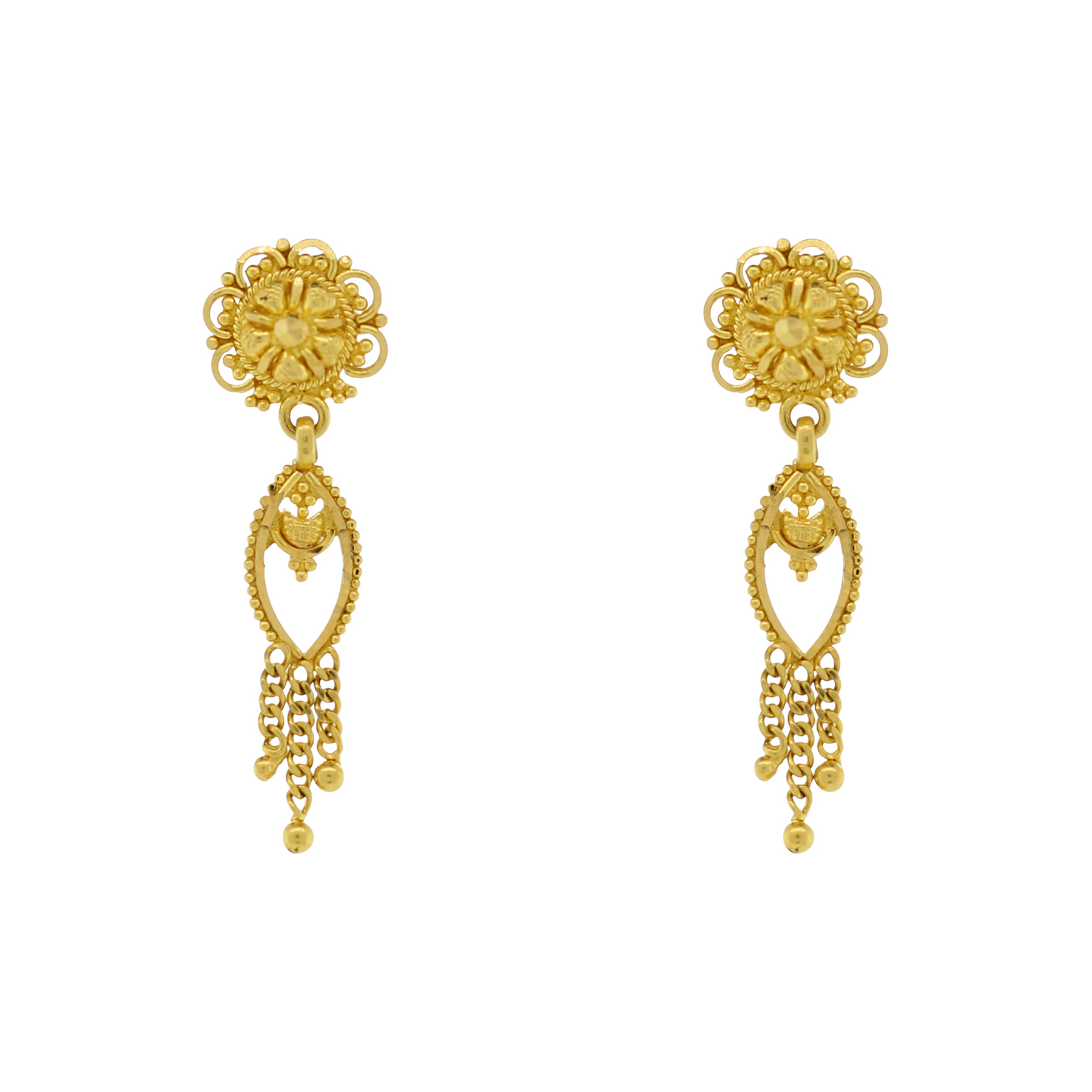 GOLD HANGING EARRINGS – Andaaz Jewelers