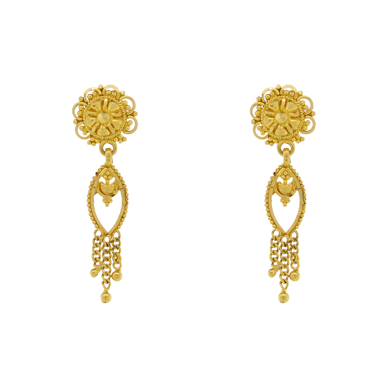GOLD HANGING EARRINGS