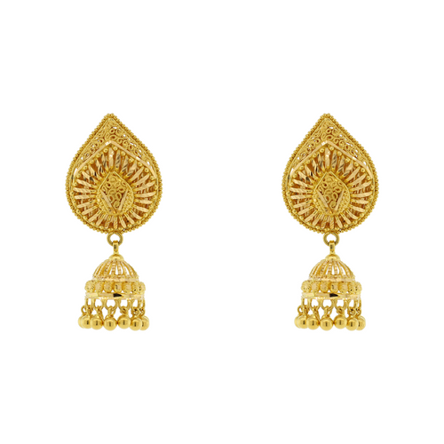 GOLD PEAR SHAPED EARRINGS