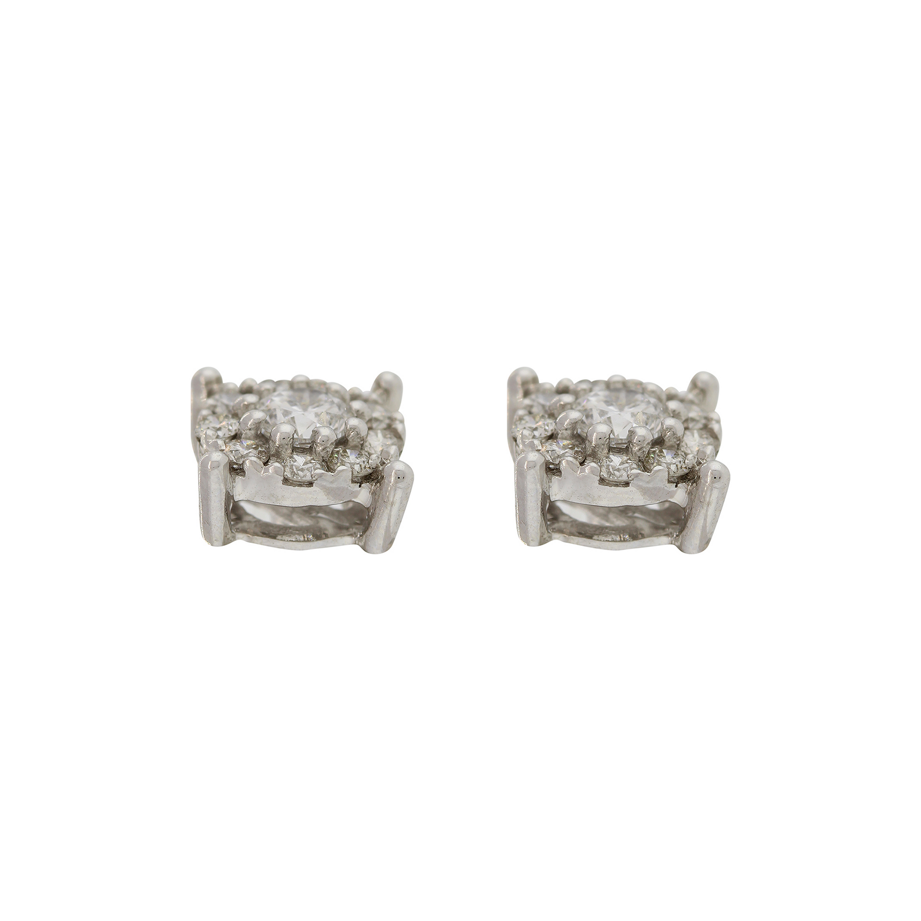 DIAMOND EARRING TOPS WITH CENTER SOLITAIRE – Andaaz Jewelers