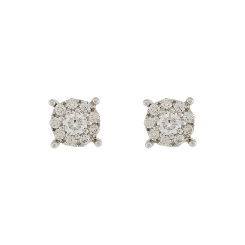 DIAMOND EARRING TOPS WITH CENTER SOLITAIRE