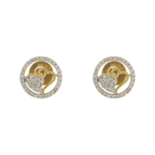 DIAMOND EARRINGS WITH HEART DESIGN
