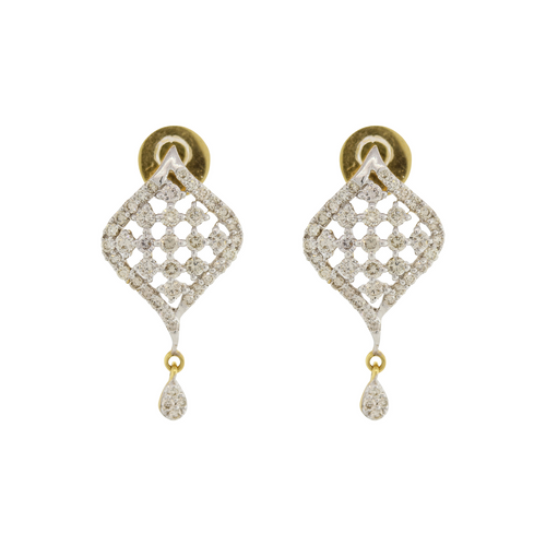 DIAMOND EARRINGS WITH SMALL DROP