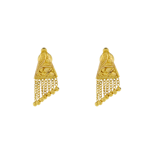 GOLD EARRINGS WITH HANGING DROP
