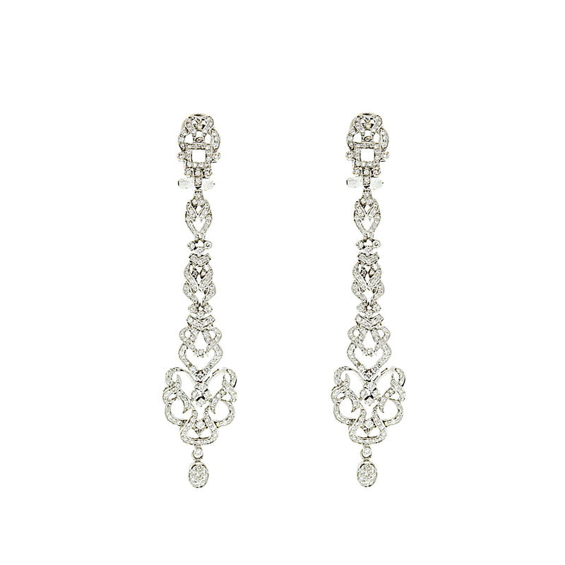 Diamond Hanging Earrings