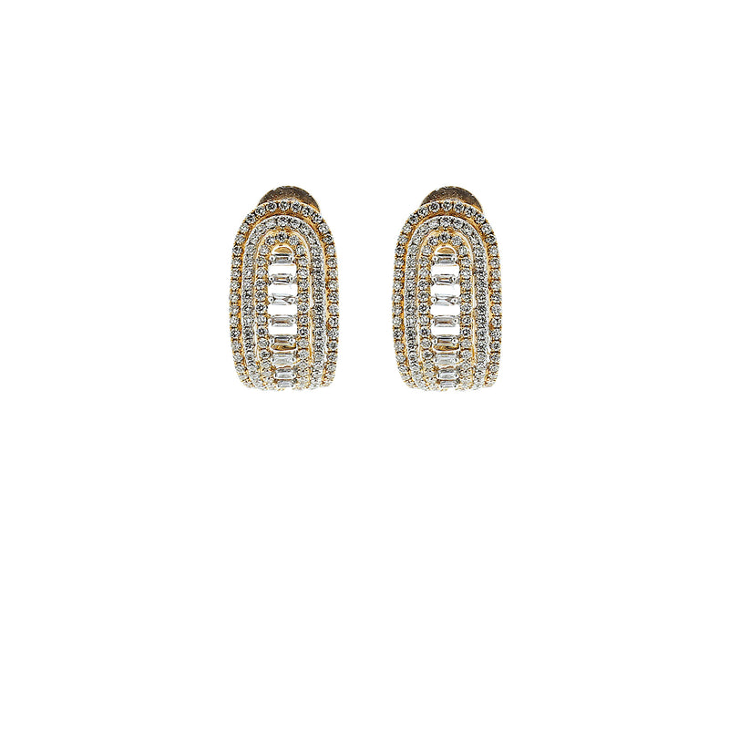 Half Moon Diamond Earrings