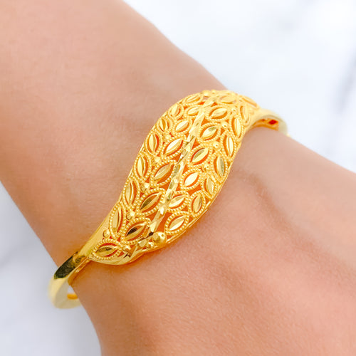 Shimmering Curve Bangle Bracelet
