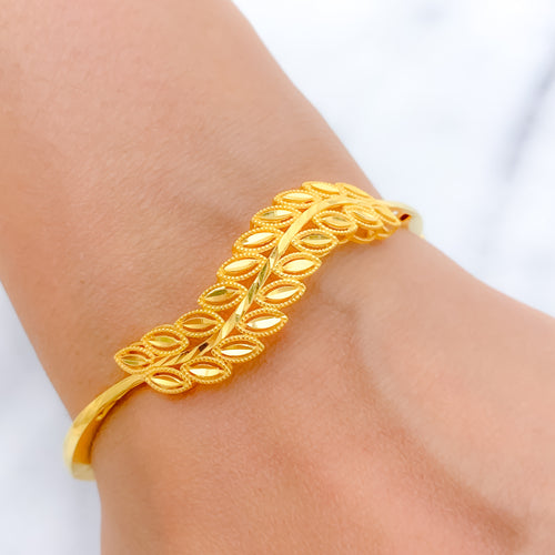 Beautiful + Lovely Yellow Gold Bangle Bracelet