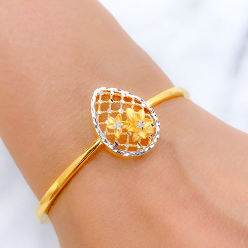 Exclusive Flower in Jali Bangle Bracelet