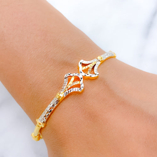 Beautiful Symmetrical Bangle Bracelet