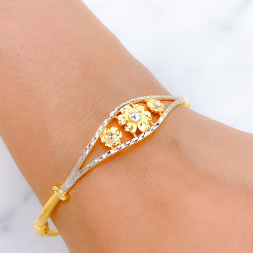 Shiny Hidden Hearts Bangle Bracelet